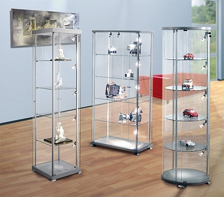 glasvitrinen stabile pr sentationsvitrinen aus glas. Black Bedroom Furniture Sets. Home Design Ideas